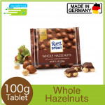 Ritter Sport Whole Hazelnut Chocolate Bar 100g (Made in Germany)