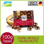 Ritter Sport Dark Whole Hazelnut Chocolate Bar 100g (Made in Germany)