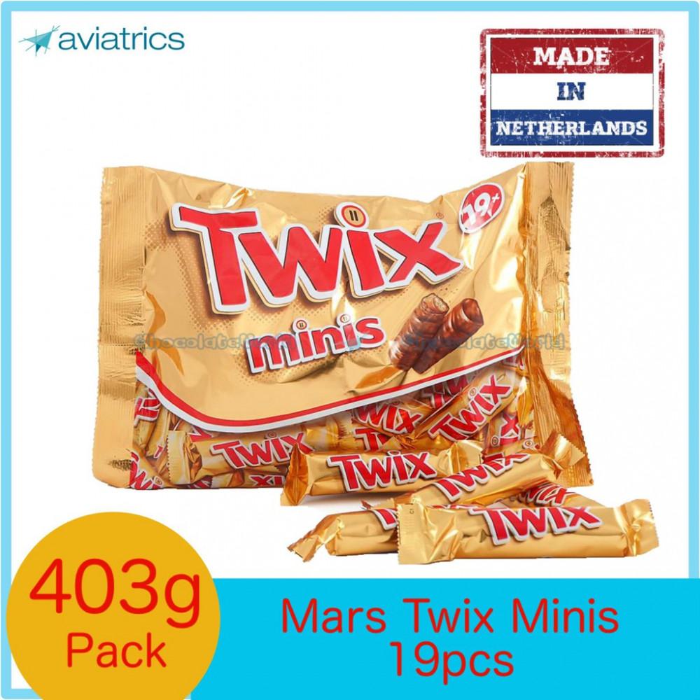 Twix Minis FunSize bag 403g 19pcs (Made in Netherlands)