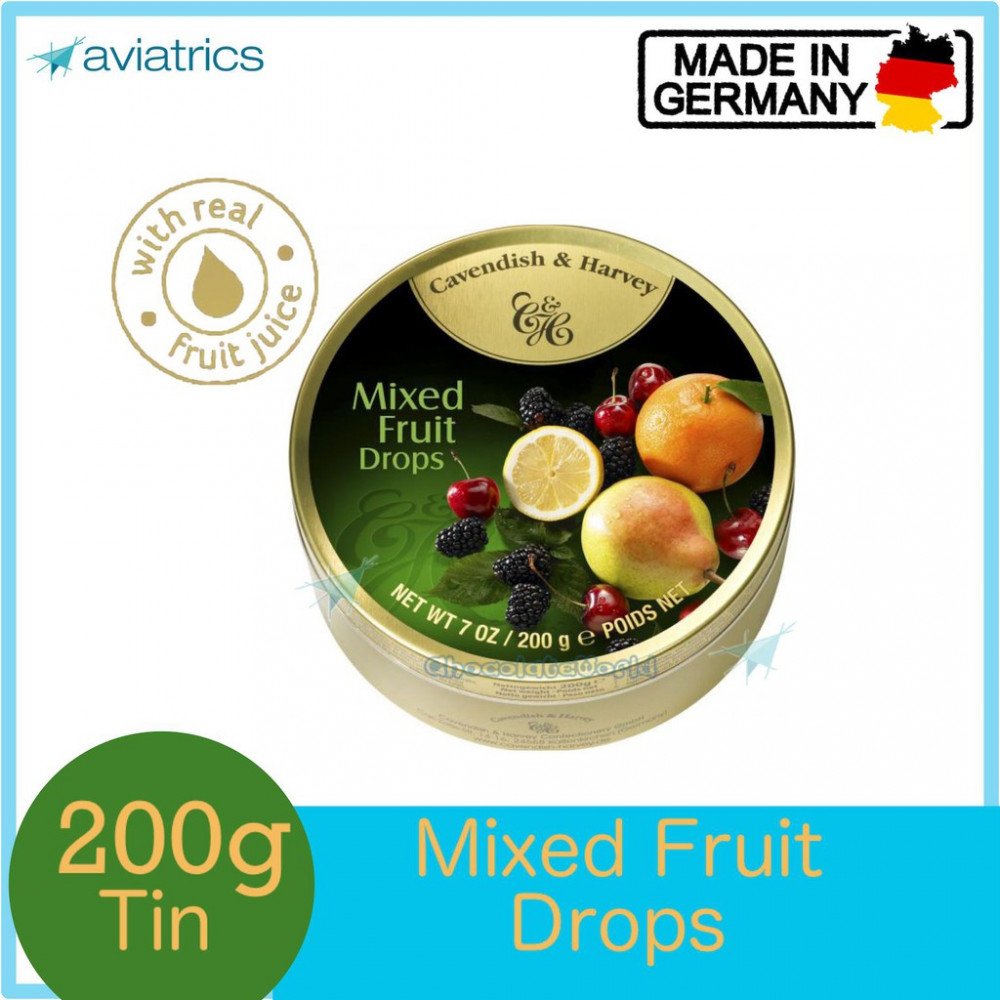 Cavendish Harvey Mixed Fruits Drops 200g (Made in Germany)