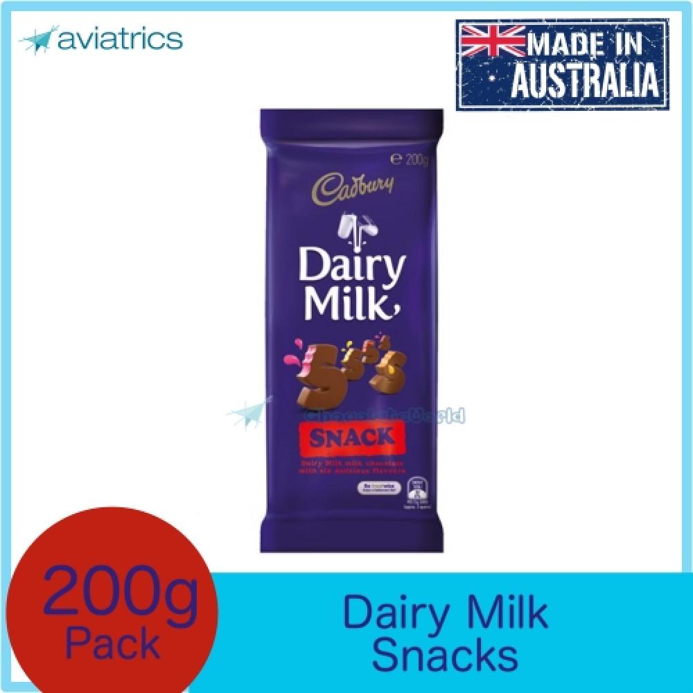 Cadbury Dairy Milk Snack (6 flavours) 200g (Made in Australia)