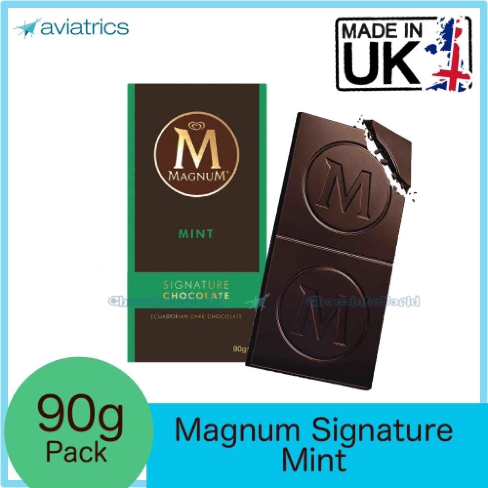 Magnum Signature Dark Chocolate Bar with Mint 90g (Made in UK)