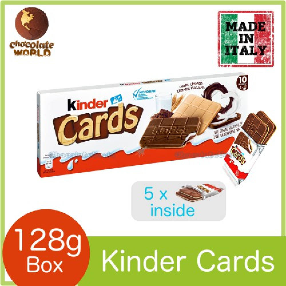 Kinder Bueno Cards 128g (Made in E.U.)