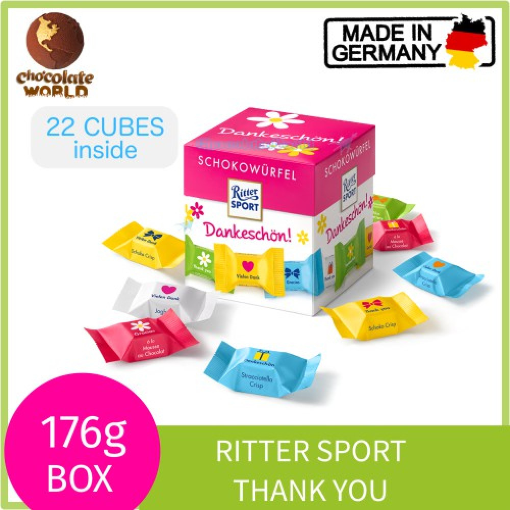 Ritter Sport Choco Cubes Thank You 176g (Made in Germany)