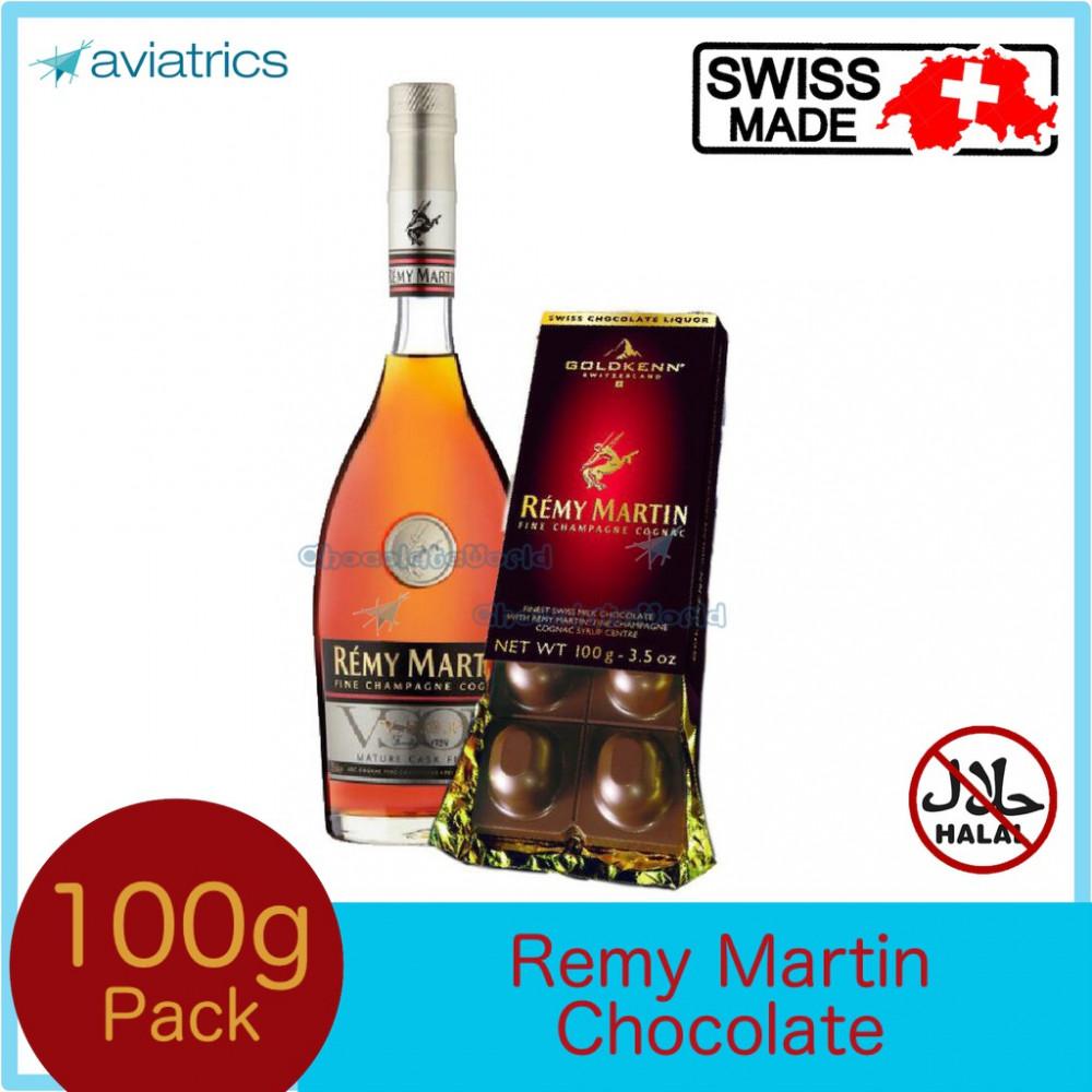 Goldkenn Remy Martin Champagne Swiss Milk Chocolate 100g (Swiss Made)