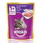 Whiskas 1+ Year Mackerel 85g