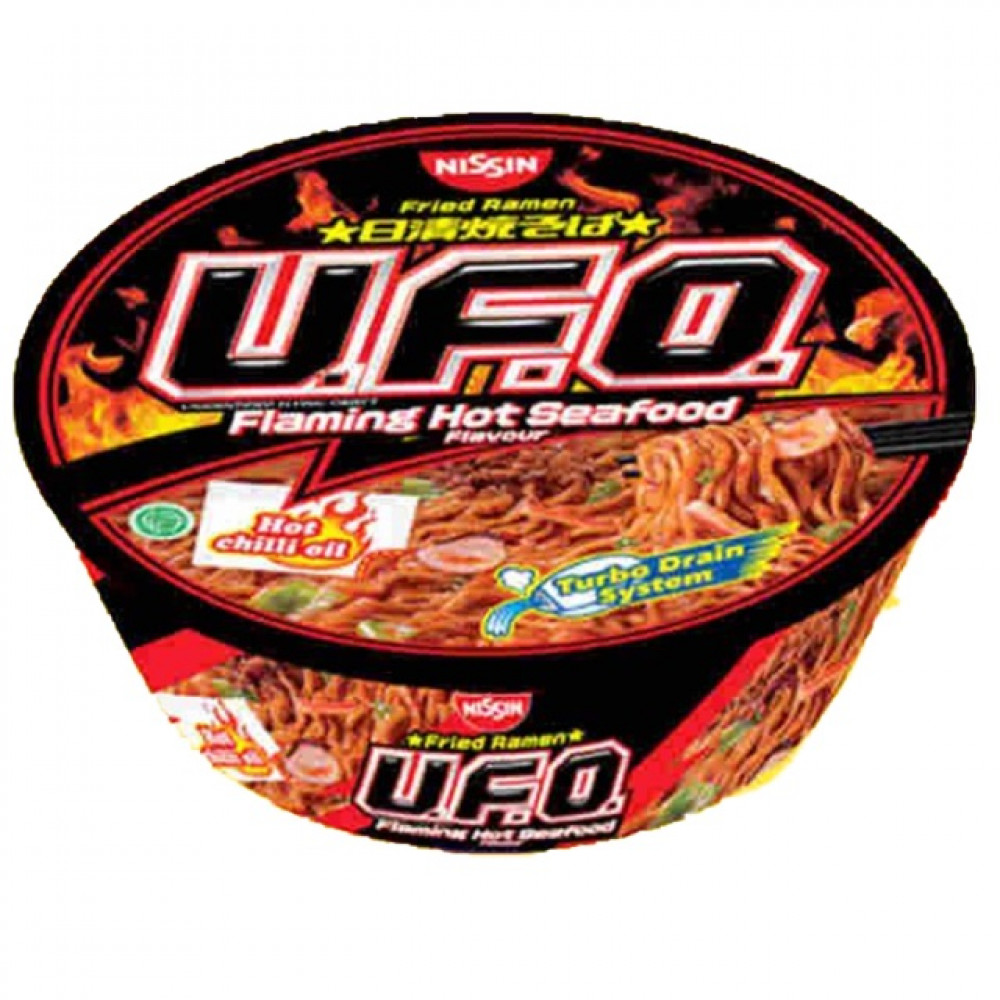 Nissin Fried Ramen Flaming Hot Seafood 99g 日清烧拉面