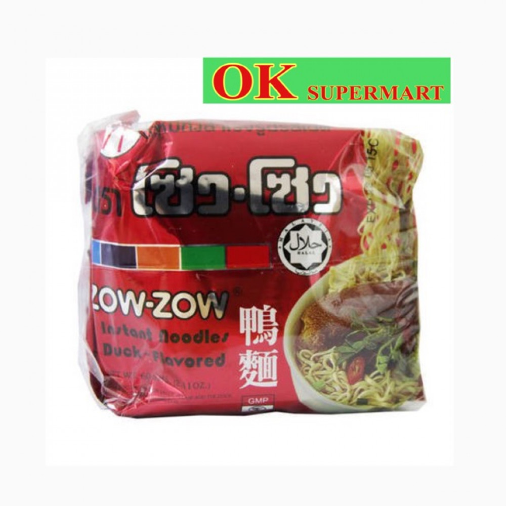 【5's X 60g】Zow-Zow Instant Noodles Duck Flavours