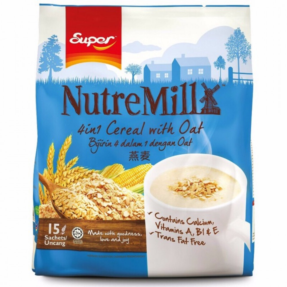 SUPER Nutremill 4 In 1 Cereal with Oat 35gX 15
