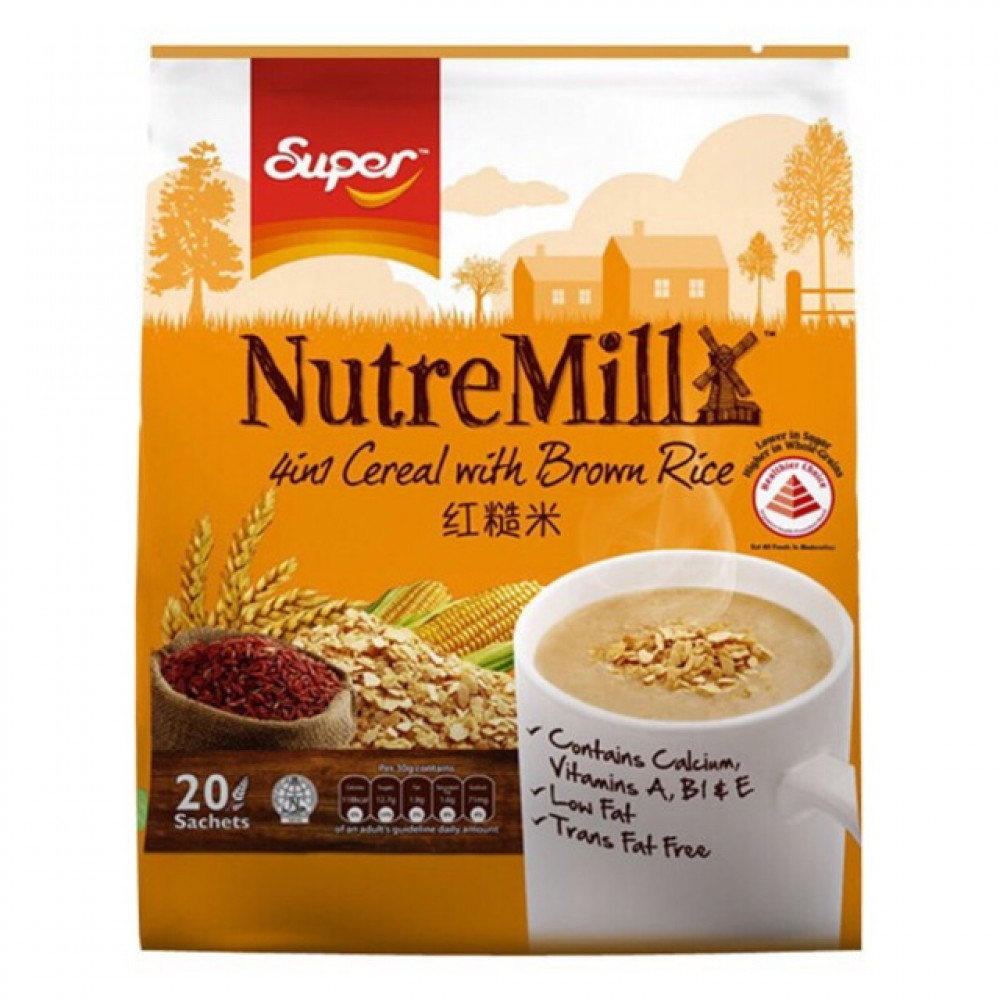Super Nutremill 4 In 1 Cereal with Brown Rice 30g X 15