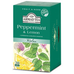 【20 Teabags】AHMAD TEA Peppermint And Lemon