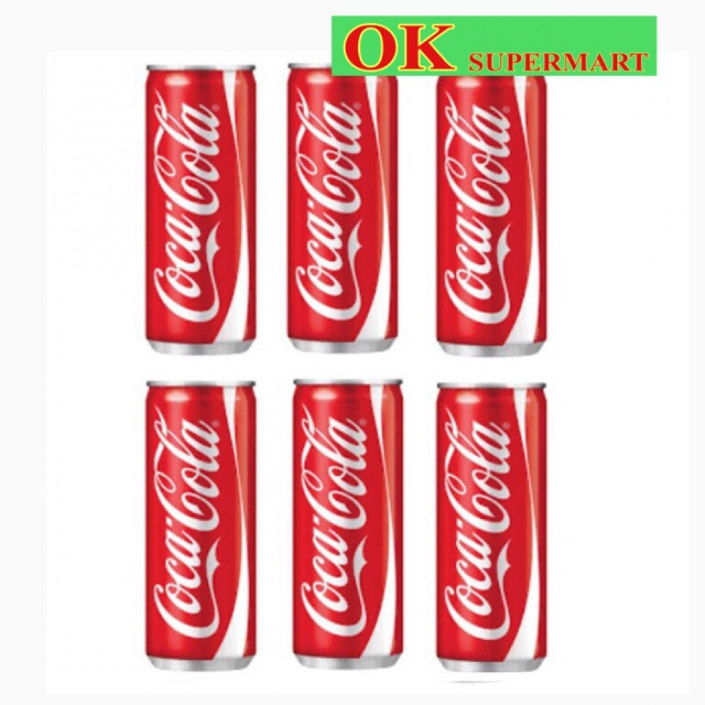 【6 Cans】Coca Cola Can 325ml