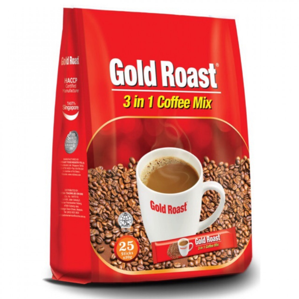 Gold Roast 3 In 1 Coffee Mix 20g X 25's