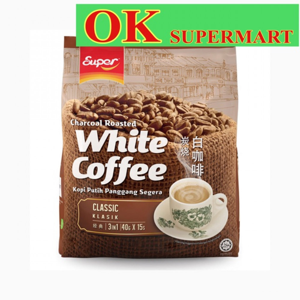 Super Charcoal Roasted White Coffee 2 In 1 / 3 in 1