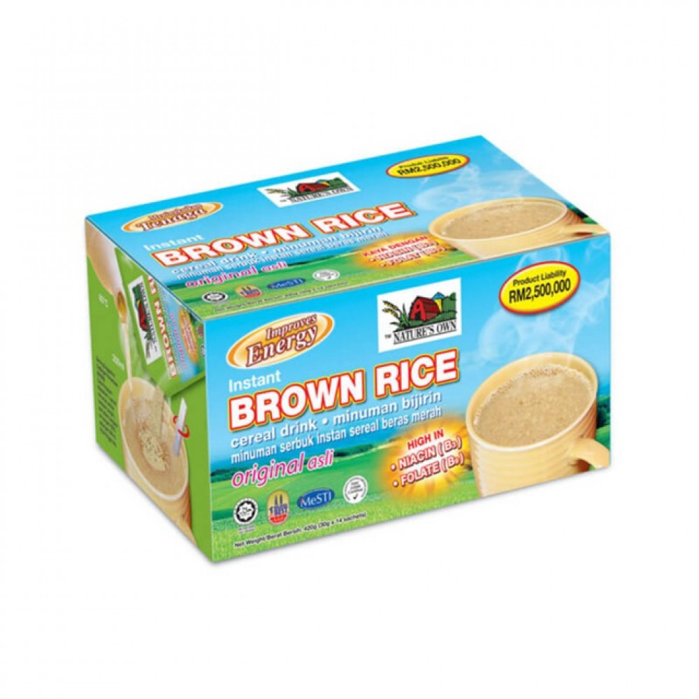 Nature's Own Instant Brown Rice 40g X 14's