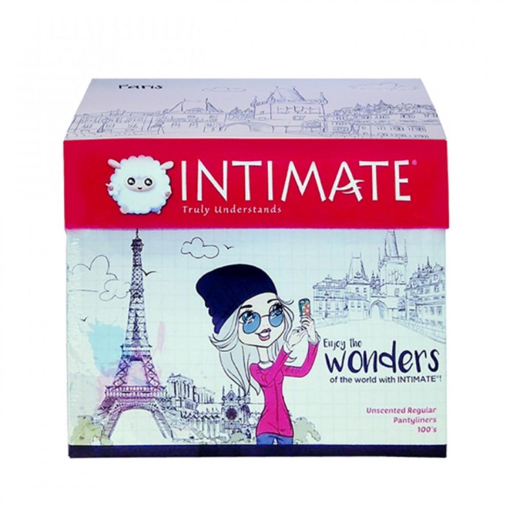 【100's】Intimate Unscented Regular Pantyliners Random Design Box
