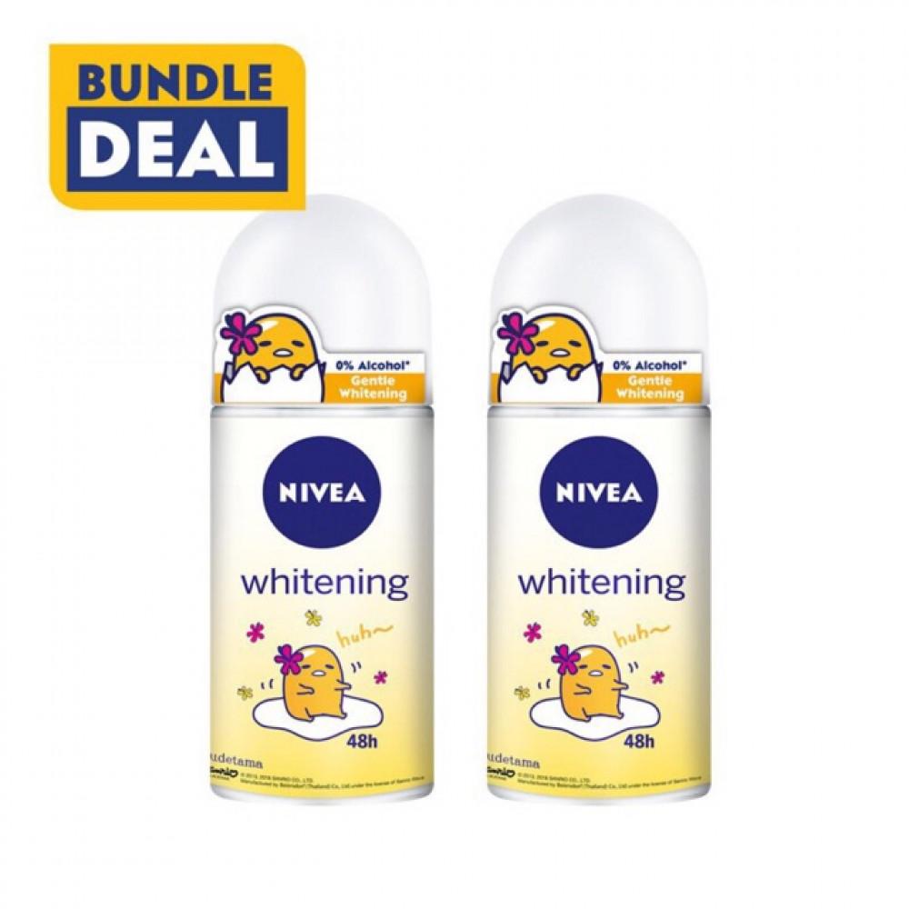 【2 Bottle】Nivea Gudetama 50ml Deodorant Roll On