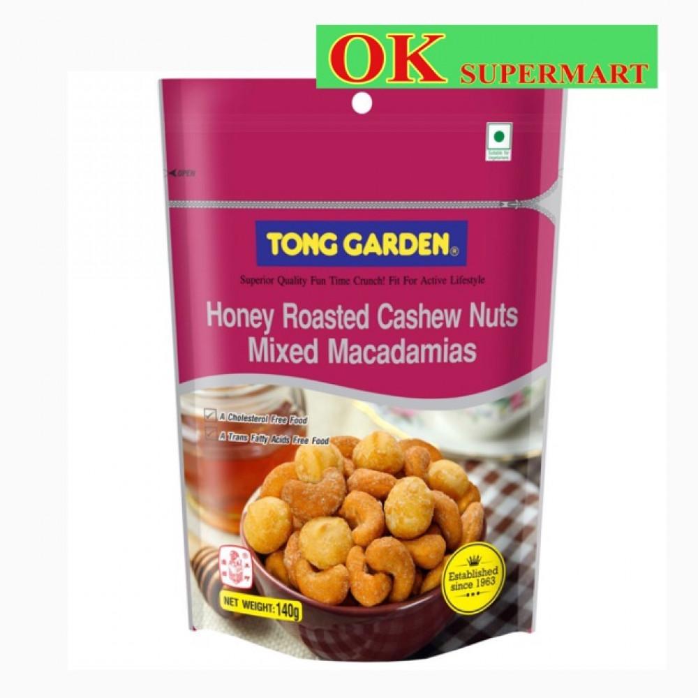 Tong Garden Honey Roasted Cashew Nuts Mixed Macadamias 140g