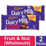 【2 Packs】Cadbury Fruits And Nuts 165g