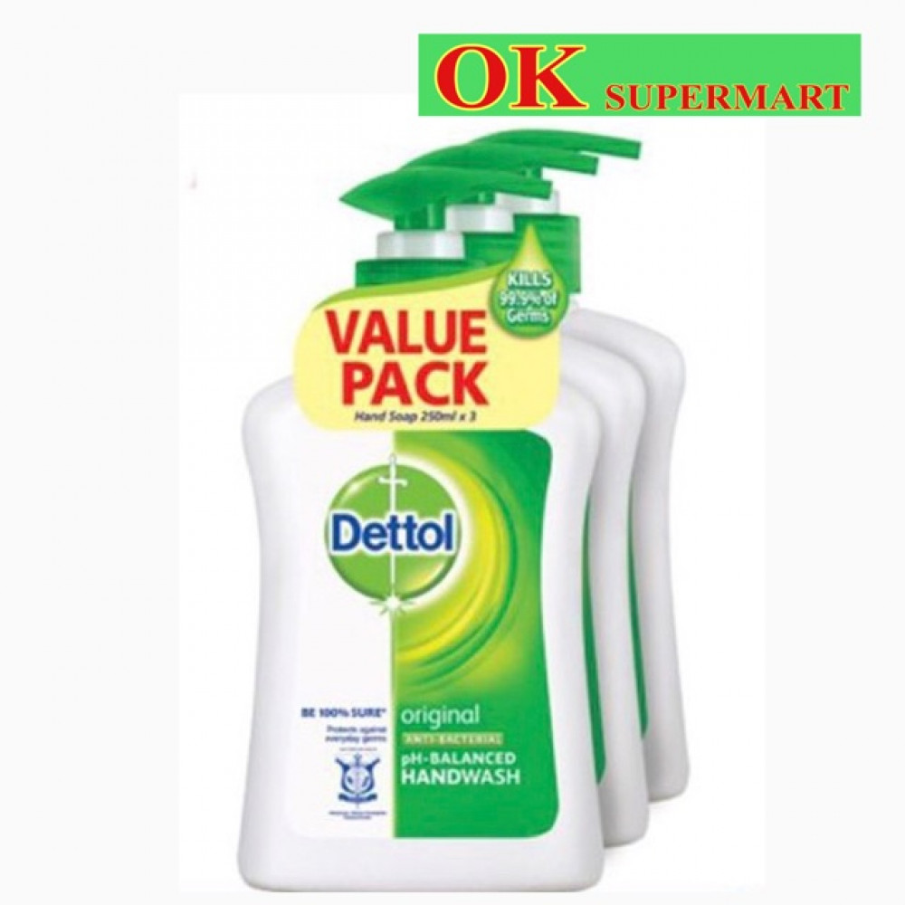 【3 X 250ml】Dettol Hand Wash