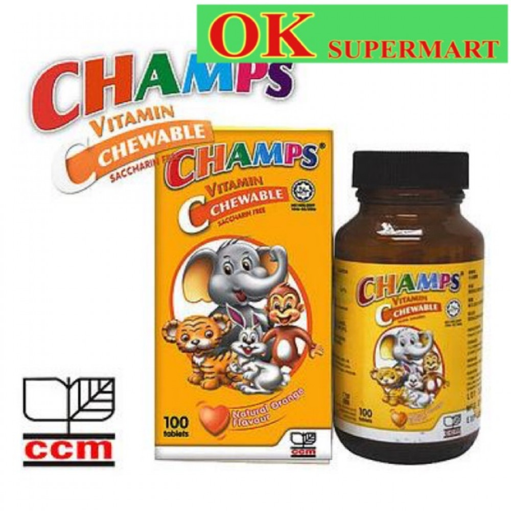 Champs Vitamin C Chewable 100 Tablets