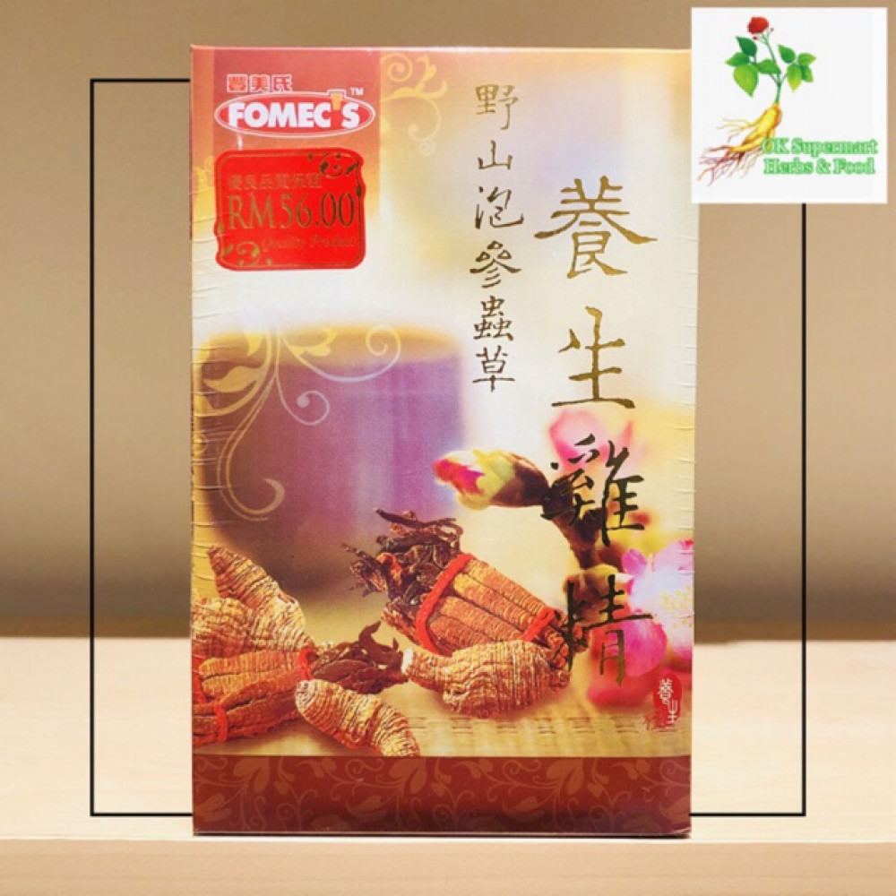 Fomec's Essence Of Chicken With American Ginseng And Cordyceps 70g x 6's 【丰美氏】野山泡参蟲草 养生鸡精