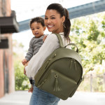 Skip Hop Greenwich Simply Chic Backpack- Olive