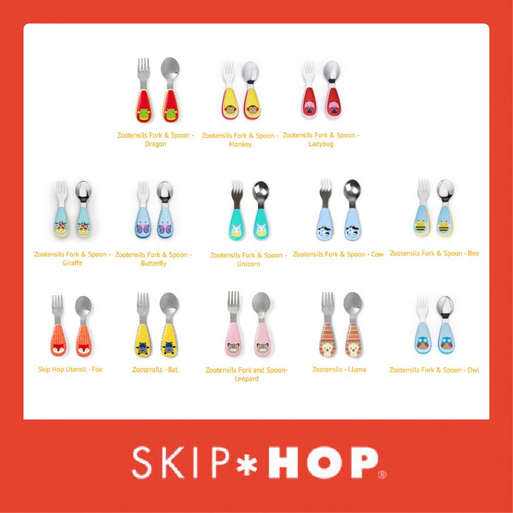 Skip Hop Zootensils Fork & Spoon