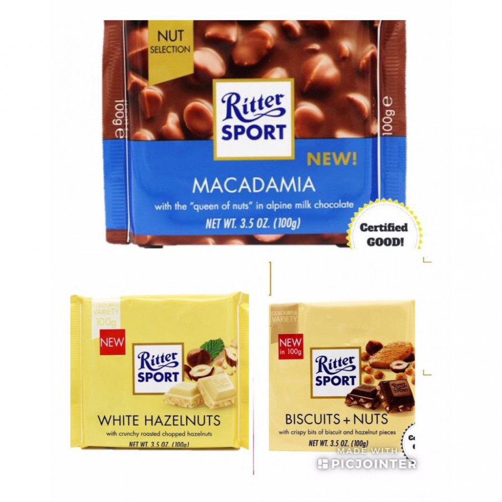 RITTER SPORT Chocolates - NUT SELECTION (Set of 2)