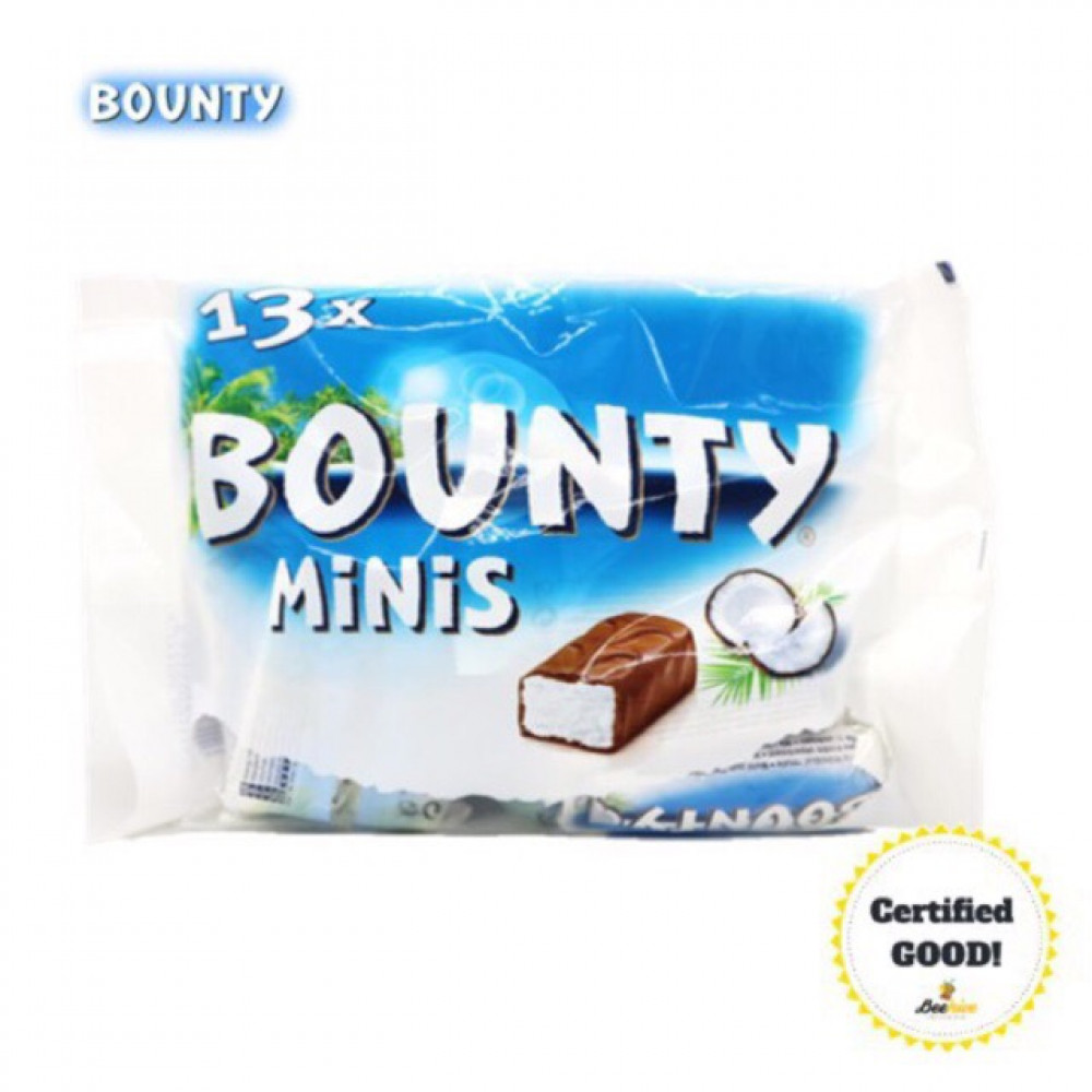 Bounty Chocolate Minis 403g (Ice Cold Packs Included)