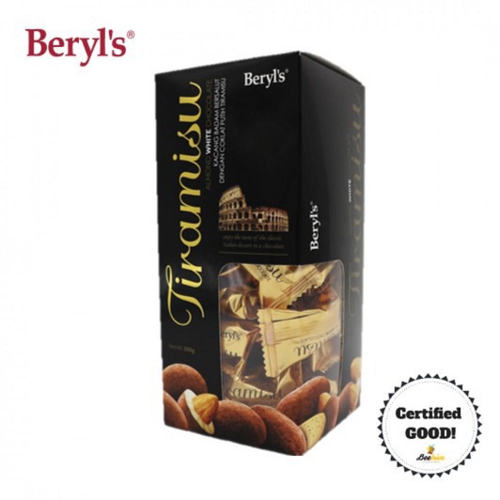 Beryl's Tiramusu Almond White Chocolate 200g