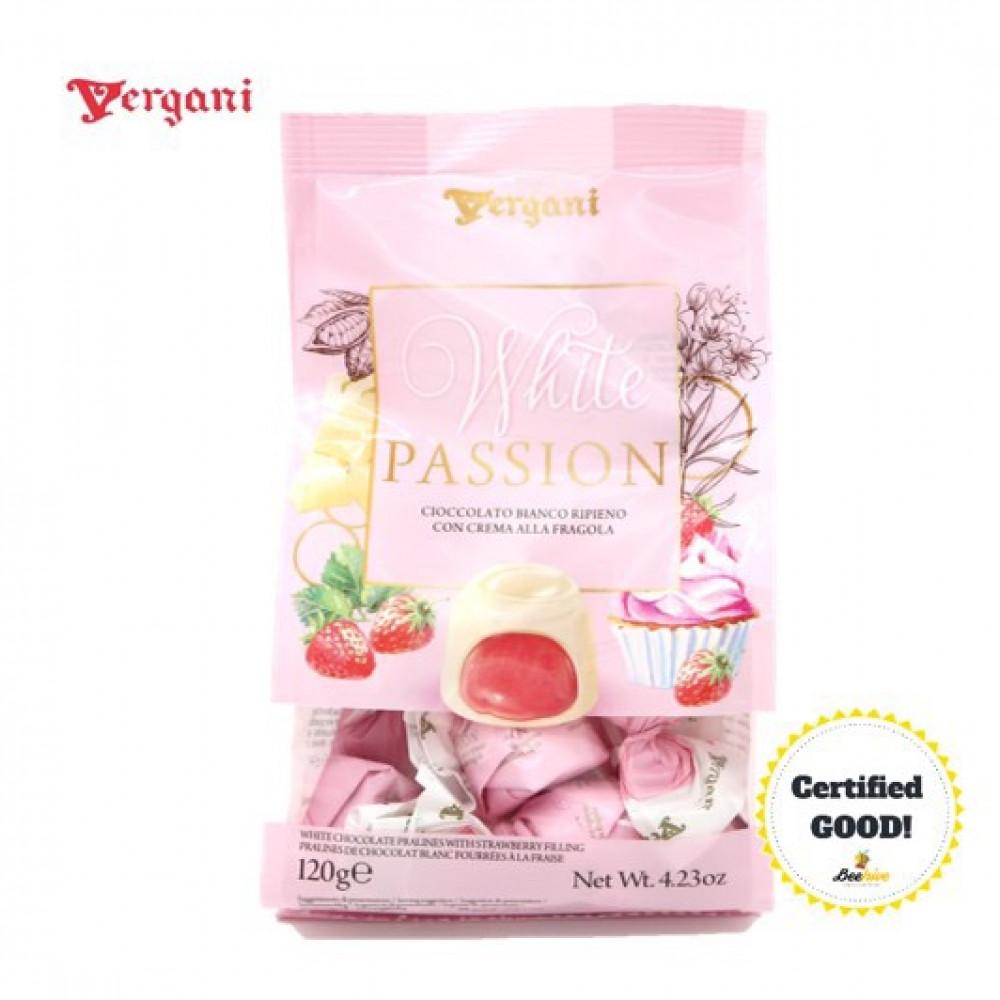 Vergani White Passion Strawberry 120g