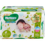 Huggies Gentle Care Baby Wipes – 4x40spcs-Ready Stock