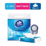 Vinda Deluxe Travel Pack Tissue (50s X 4 )-Ready Stock