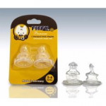 FIFFY 2 Silicone Teat With Ventilation -0-6M 3-6M/6M-Ready Stock