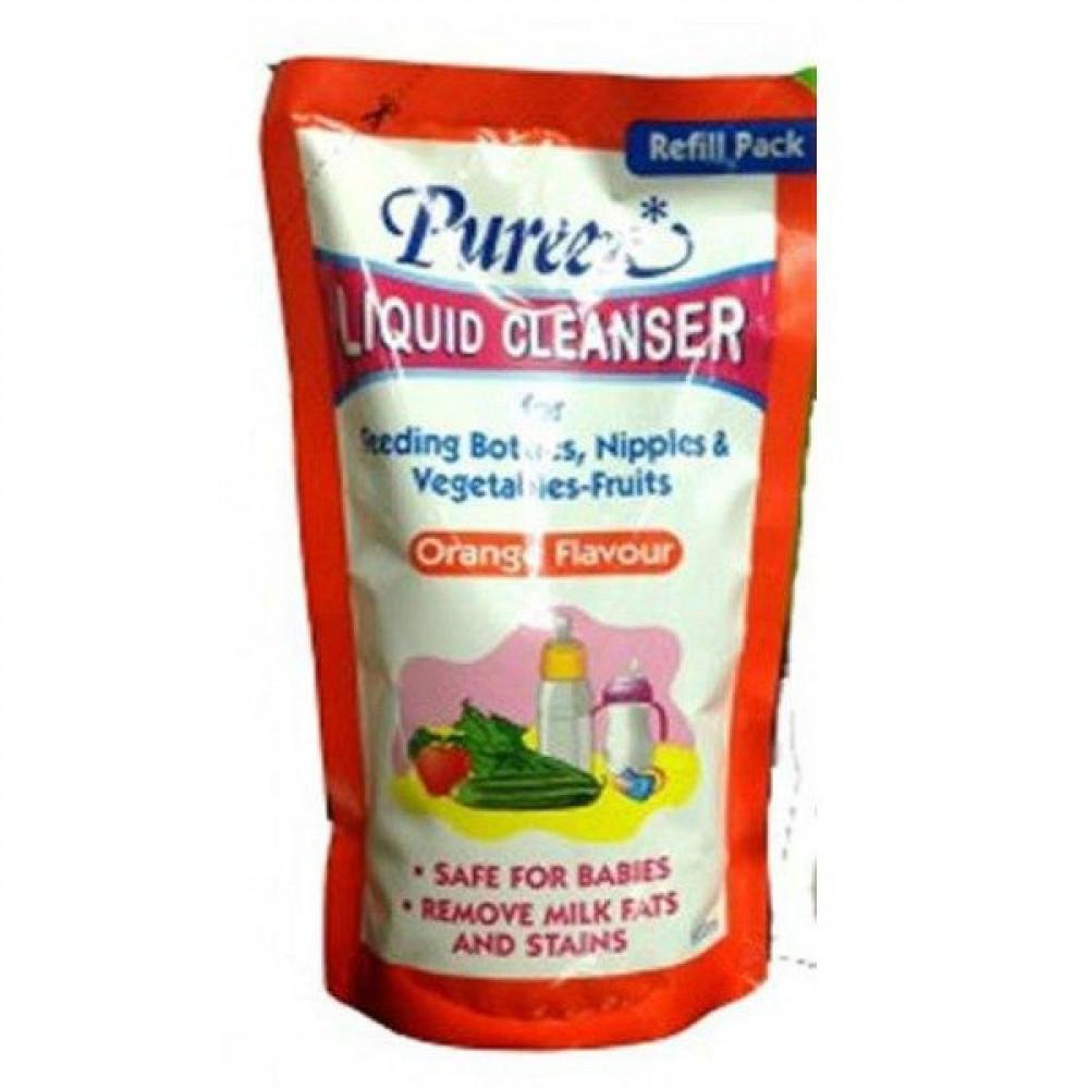 Pureen Liquid Cleanser 600ml Refill Pack (Orange Flavour)-Ready Stock