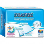 Diapex Disposable Absorbent Underpad 10 pcs ( Size 60 x 90 cm) -Ready Stock