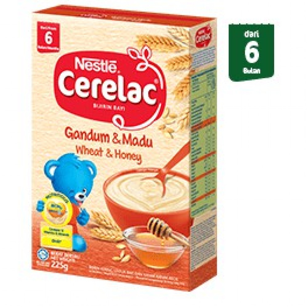 Cerelac BL FE Wheat Honey 225g-Ready Stock