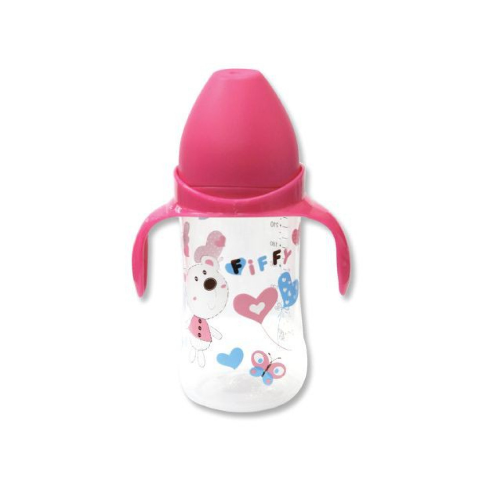 Fiffy PP Wide Neck Bottle With Handle (240ML)-Ready Stock