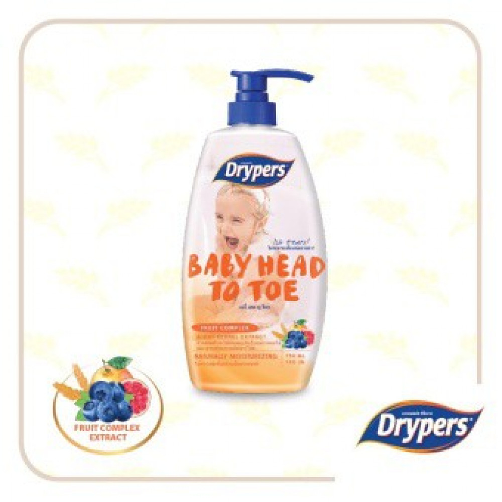 Drypers Baby Head To Toe- Fruit Complex 750ML-Ready Stock
