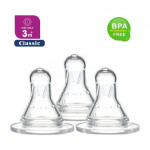 Puku Standard Neck Silicone Nipple 3m+ (One Hole)-Ready Stock