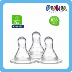 Puku Standard Neck Silicone Nipple-3 Pcs-Ready Stock
