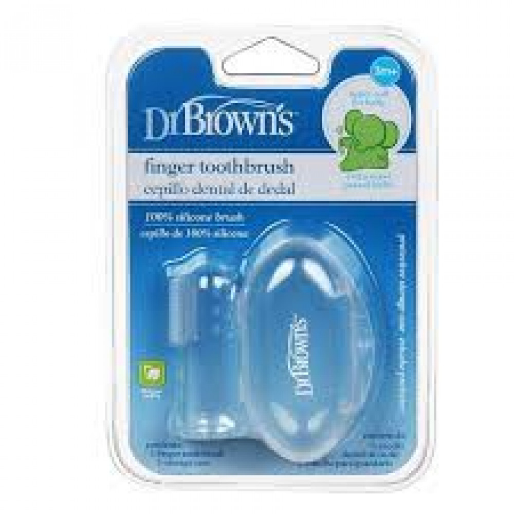 Dr.Brown's Silicone Finger Toothbrush With Case PC-Ready Stock