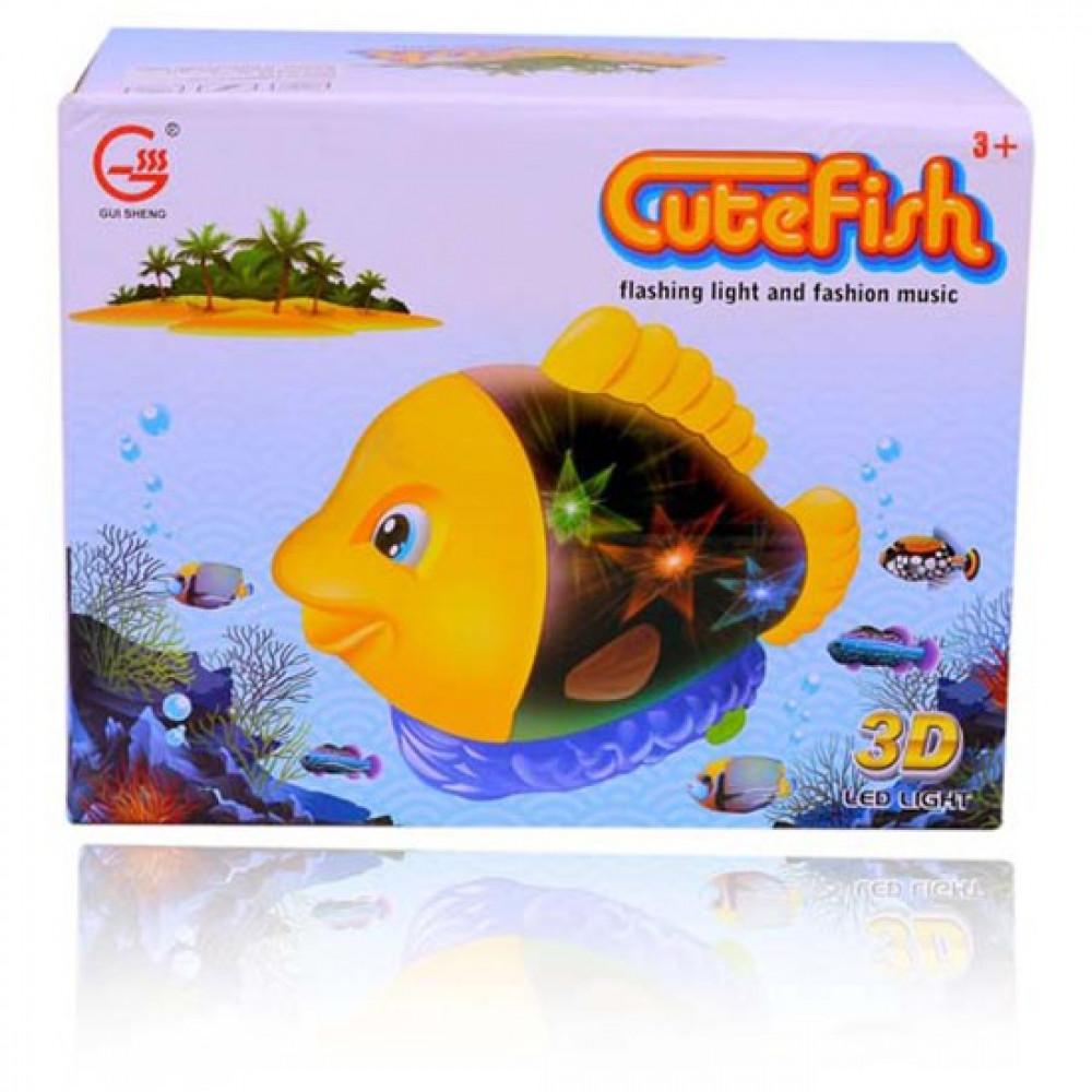 Musica & Lights Cute Fish-Ready Stock