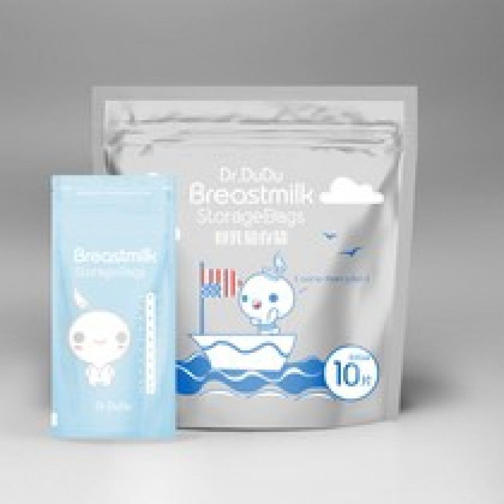 Dr.Dudu Breastmilk Storage Ziplock Bag-10pcs 7oz Travel Pack-Ready Stock