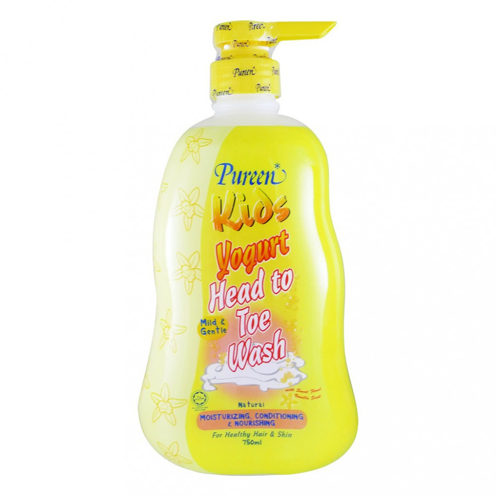 Pureen Kids Yogurt Head To Toe Wash (Natural) 750ML-Ready Stock