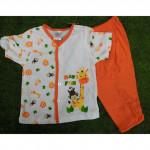Baby Unisex Ziraffe Set Wear(orange)-Ready Stock