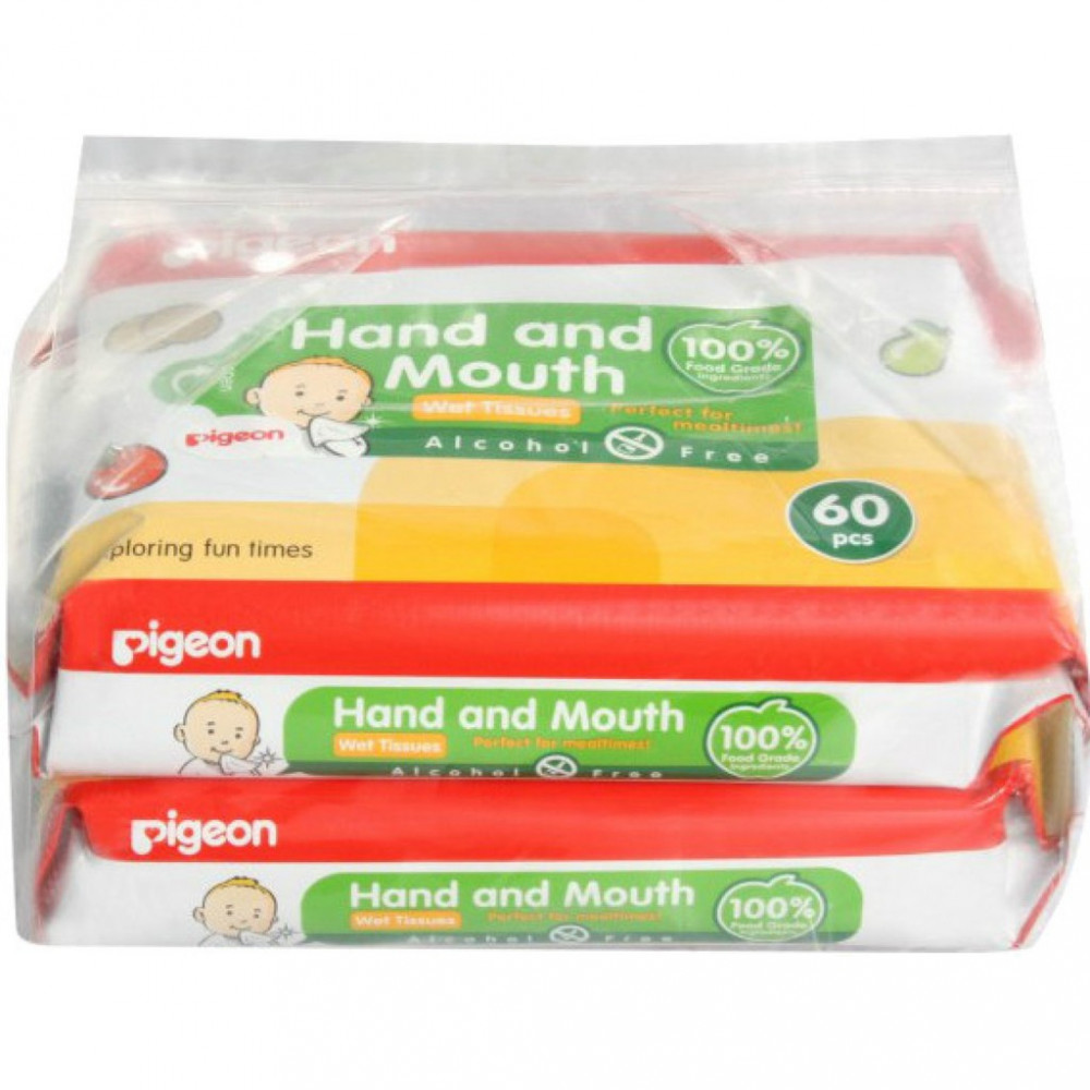 Wet Tissues – Hand and Mouth 60pcs x 2-Ready Stock
