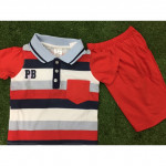Boy Collared Casual/ Smart Set Wear(red/white)-Ready Stock
