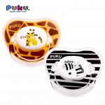 Puku Animal Baby Pacifier Twin Pack 0m+-Ready Stock